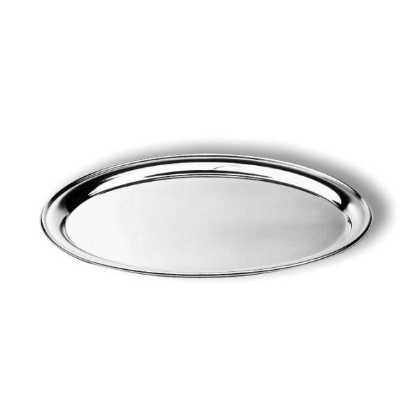 Oval salver plain