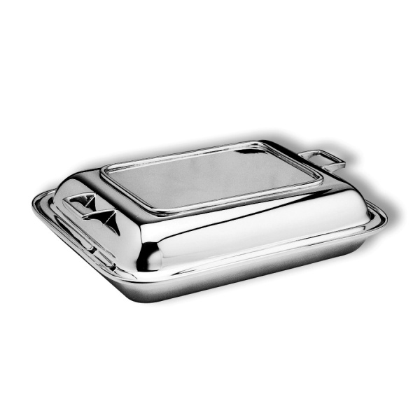 Oblong entree dish & cover