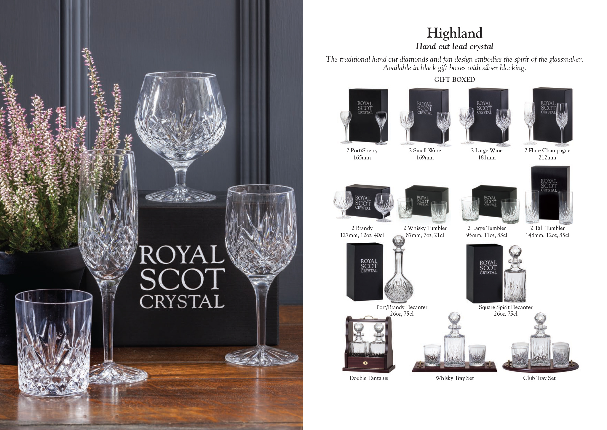 royal buckingham royal scot crystal highland. Black Bedroom Furniture Sets. Home Design Ideas